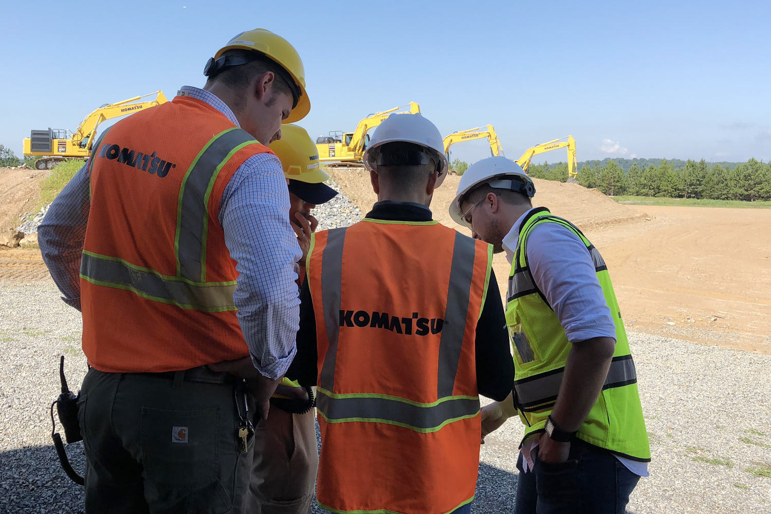 Komatsu America testing drone data solutions provided by Propeller Aero