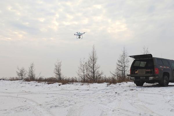 drone winter care