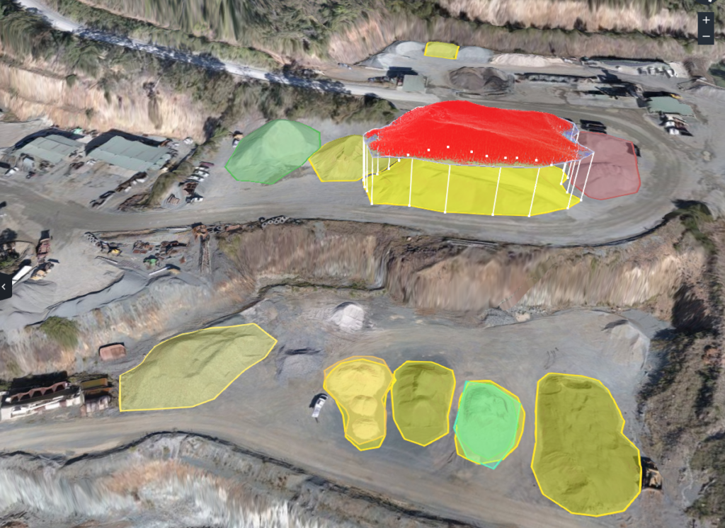 measuring stockpiles with drone