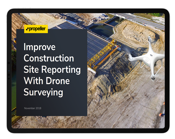 construction site reporting with drone surveying